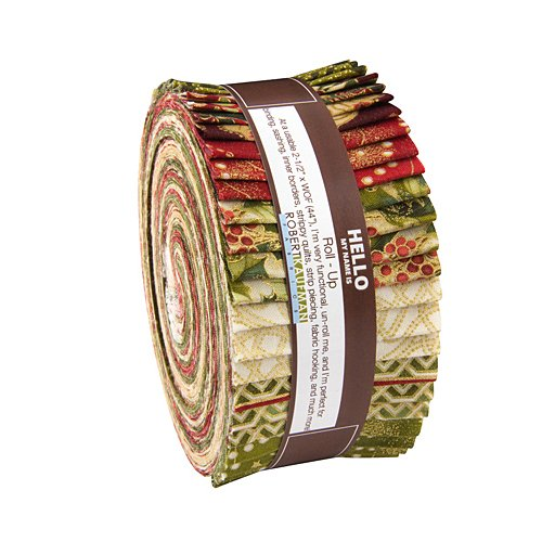 Robert Kaufman Holiday Flourish Country Roll Up 2 5 Inch