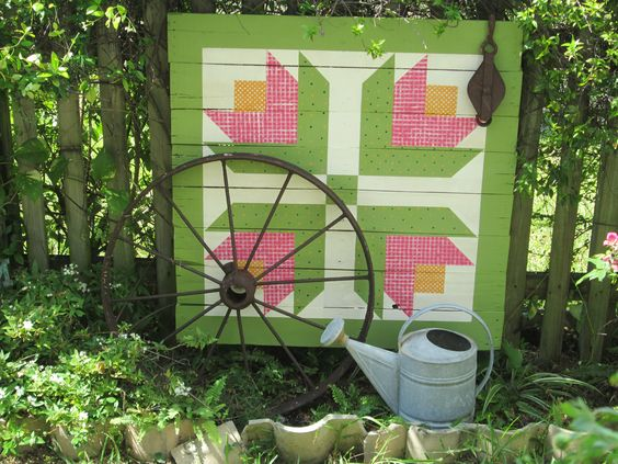 How to create a barn quilt quilting digest for Garden shed quilting