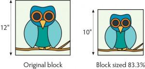 change quilt block size