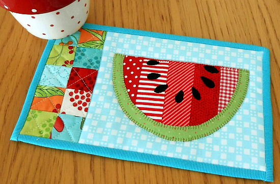 Summer Watermelon Mug Rug Pattern