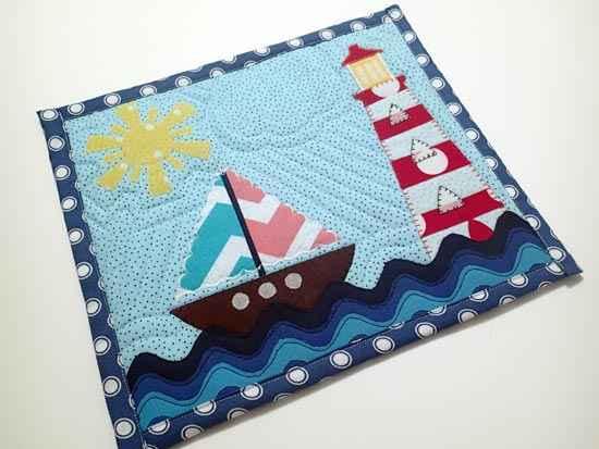 Nautical Mug Rug Pattern