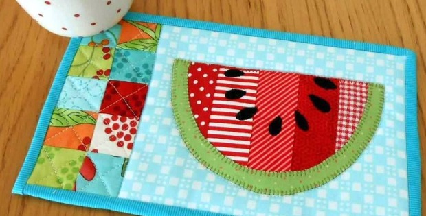 5 Summer Mug Rug Patterns Quilting Digest