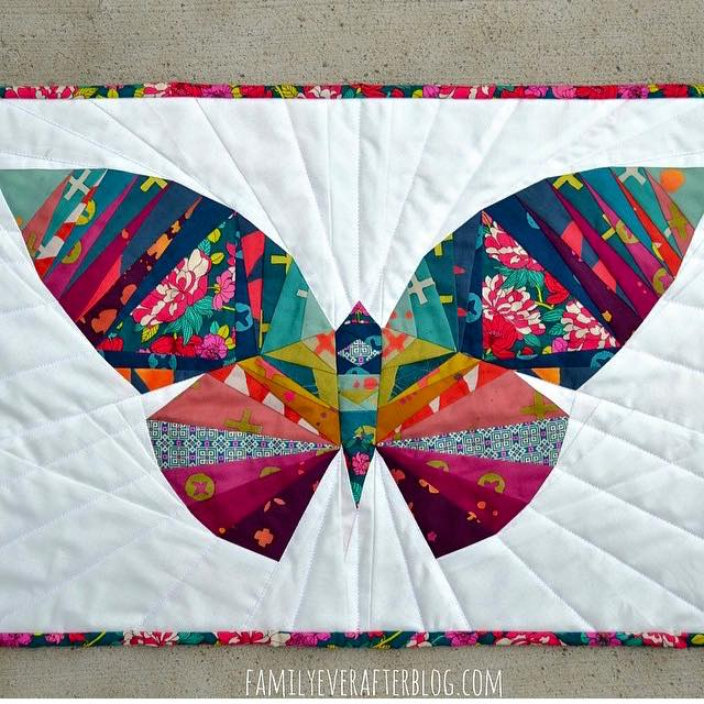 Quilting Digest Free Patterns : Take Wing with This Paper Pieced Butterfly - Quilting Digest