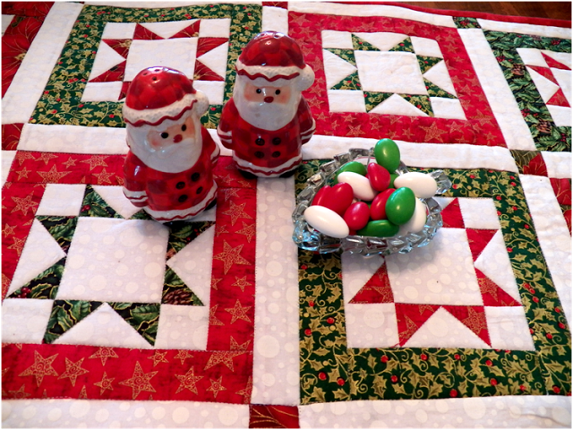 Star block Christmas Table Runner