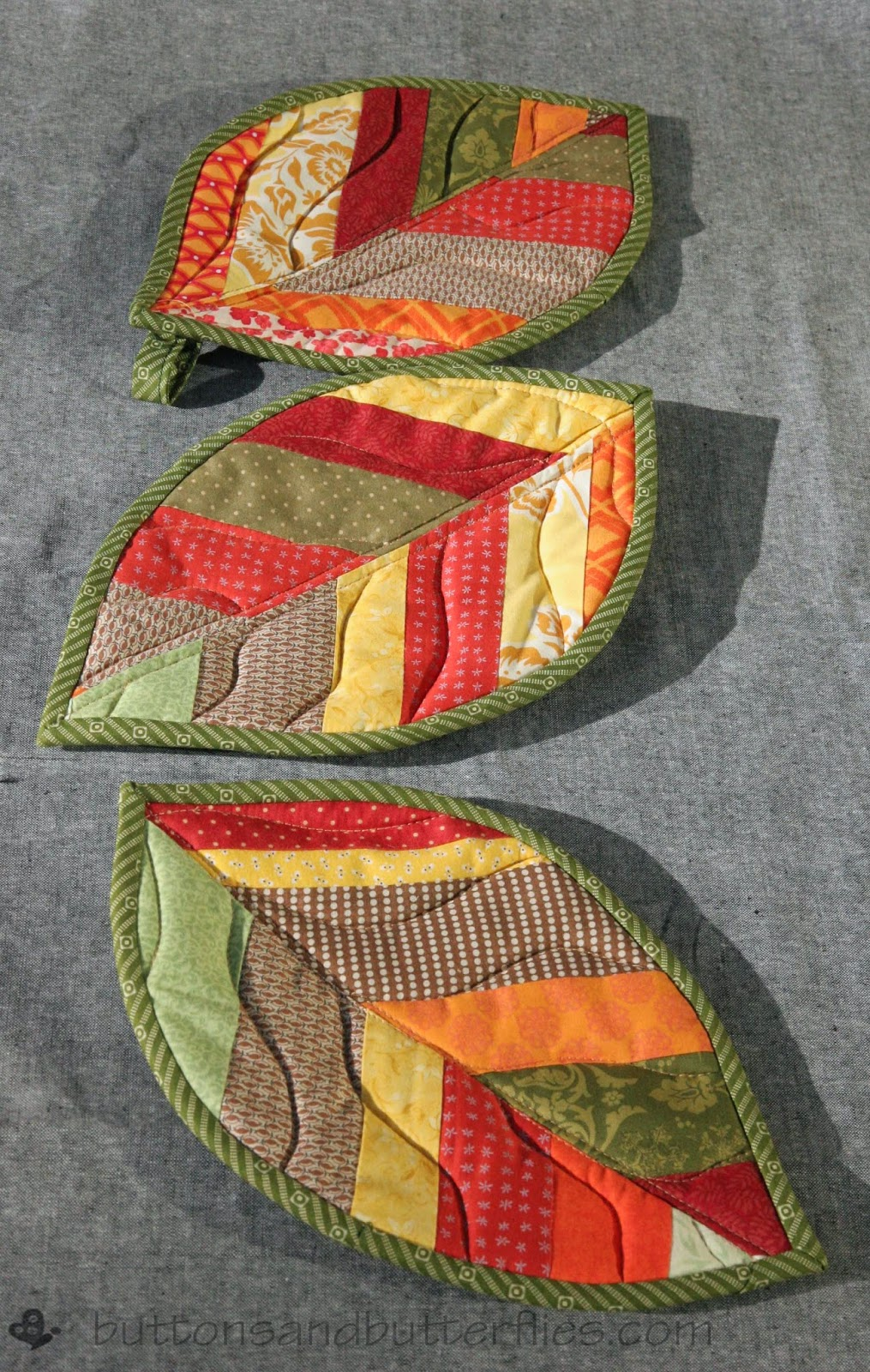 Quilted Leaf Potholders Are So Easy To Make Quilting Digest