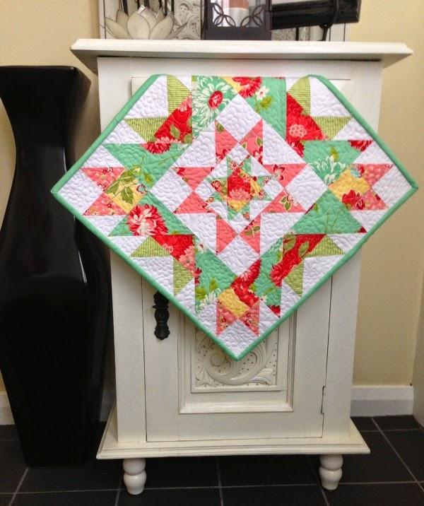 star cluster mini quilt