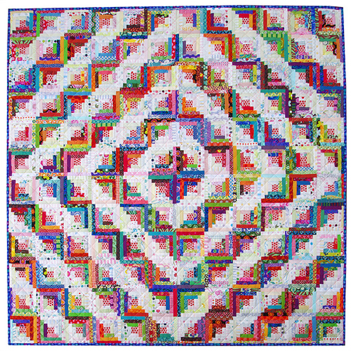 Scrappy Log Cabin Quilt - Red Pepper Quilts