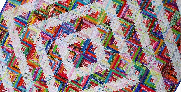 Scrappy Log Cabin Quilt Tutorial Quilting Digest