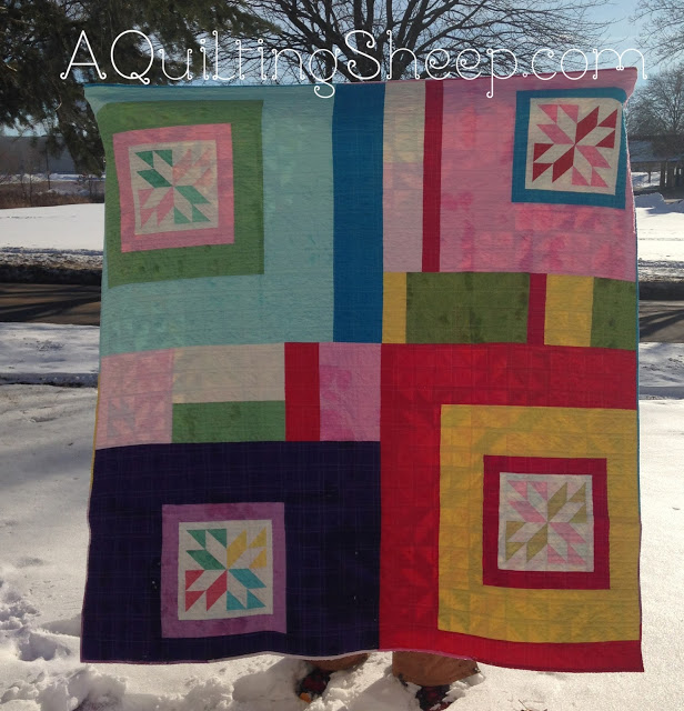 Sparkle quilt backing