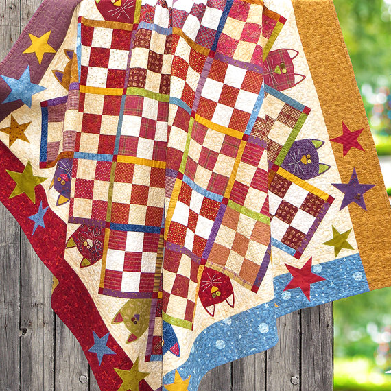 scrappy cats quilt