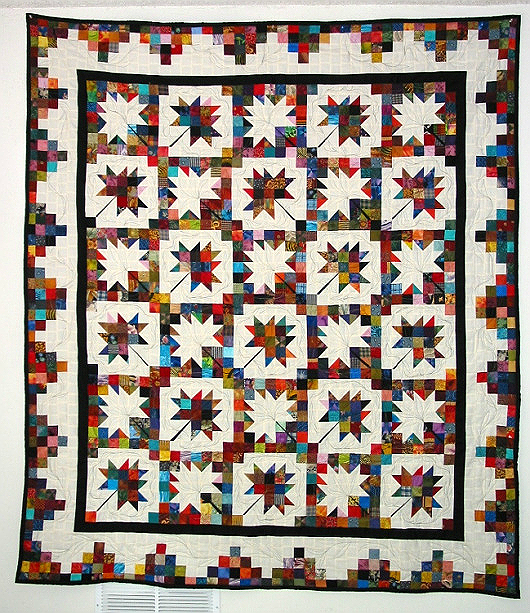 Scrappy Maple Leaves Quilt Pattern