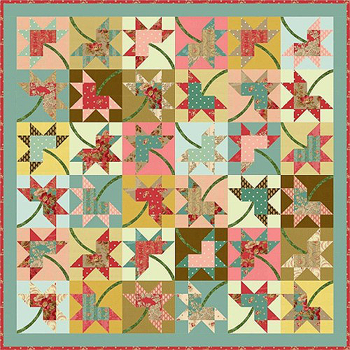 Maple Stars Quilt Pattern