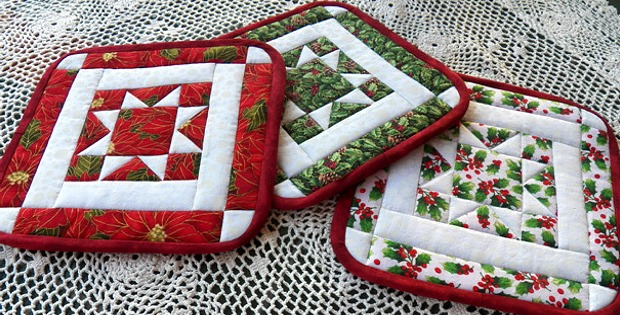 North Star Potholders For Any Season Quilting Digest