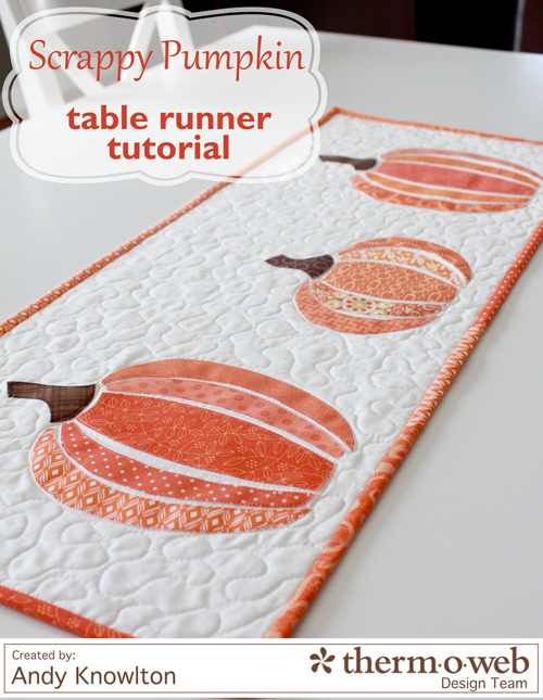 scrappy pumpkin table runner