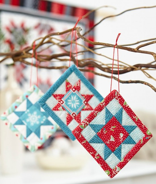 A Bit of Cheer Fabric Ornaments