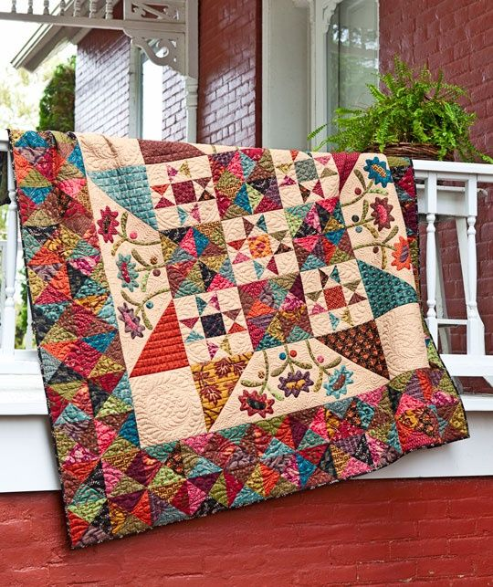 Late Bloomers quilt by Kim Diehl