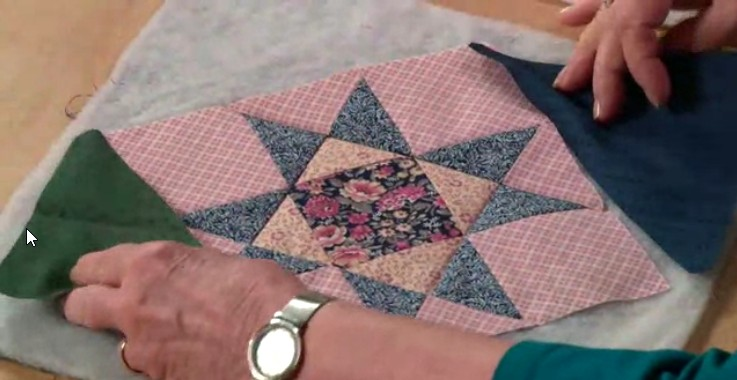 Quilt as you go star block