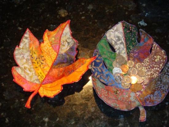 Molded Leaf Bowls