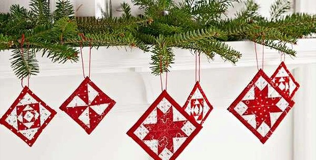 Mini Quilt Christmas Ornaments