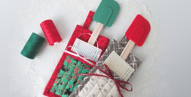 Small Quilted Gift Ideas To Make : Quilted, Folded Potholders Make Great Gifts! - Quilting Digest