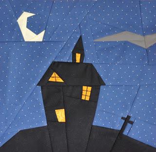 Haunted House quilt block