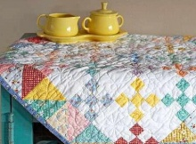 Scrappy Quilted Table Topper
