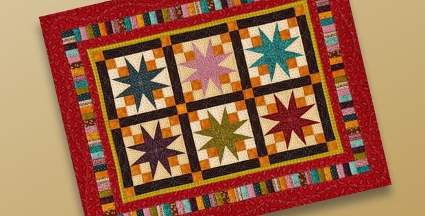 Stars on Display quilt