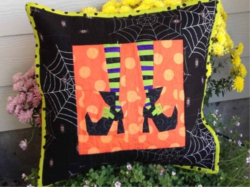 Witchy Toes throw pillow