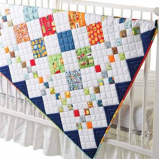 Quilting Digest Free Patterns : Diamond Patch Quilt Pattern Comes in 3 Sizes - Quilting Digest