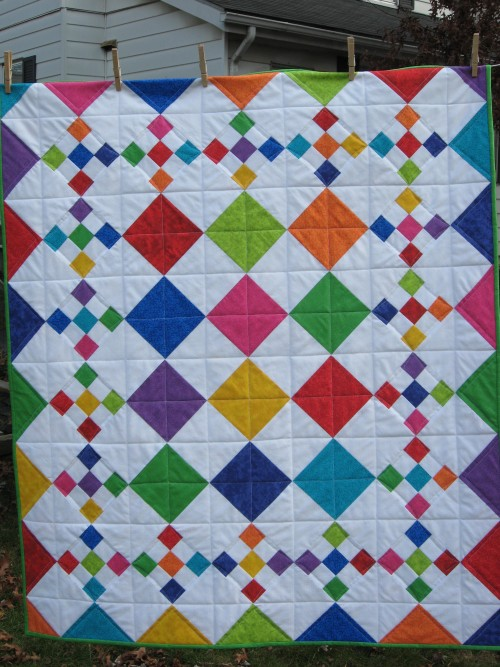 Diamond Patch Quilt Pattern Comes in 3 Sizes - Quilting Digest : diamond quilt pattern free - Adamdwight.com