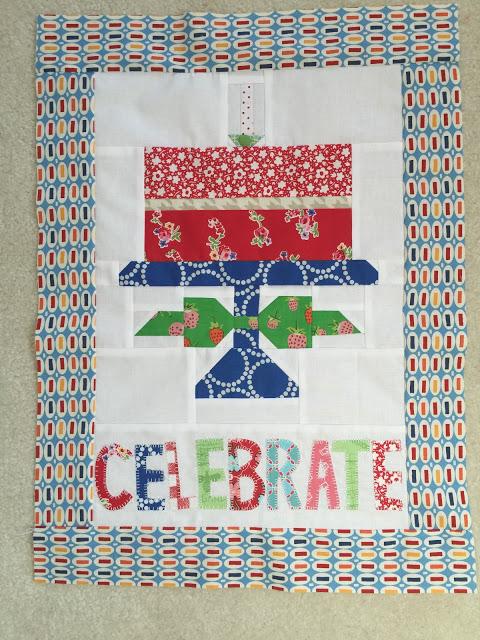 """Celebrate"" Birthday Cake Banner"
