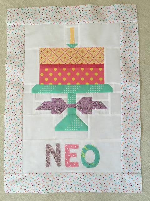 Neo's Birthday Cake Banner
