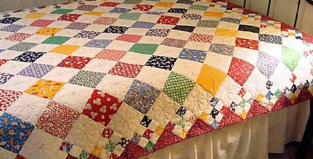 Diamond Patch Quilt Pattern Comes in 3 Sizes - Quilting Digest : how to patch a quilt - Adamdwight.com