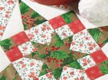 Four Patch Christmas Star Quilt Pattern