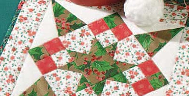 Christmas Quilt Patterns.Mini Christmas Star Is Easy Enough For Beginners Quilting