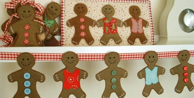 Smell These Quilty Gingerbread Men