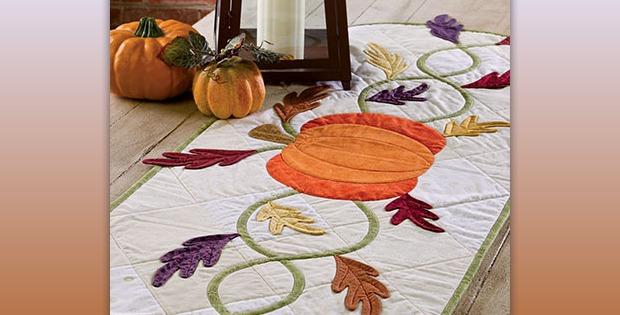 Attractive Harvest Table Runner Sets The Mood For Autumn