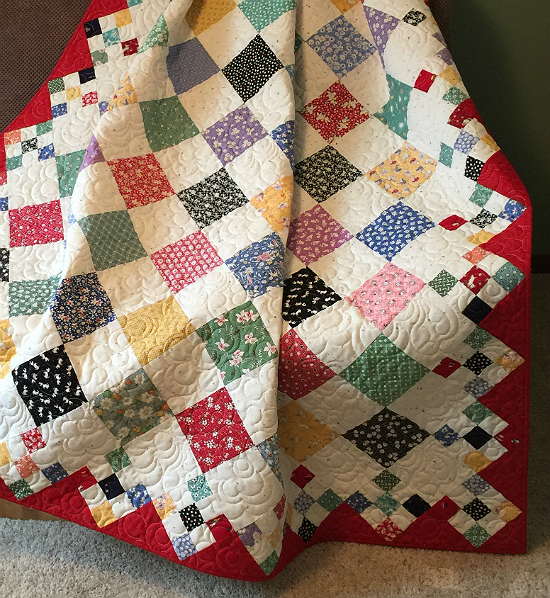 Diamond Patch Quilt Pattern