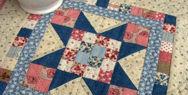 Sweet Pea Mini Quilt For Your Wall Or Table Quilting Digest