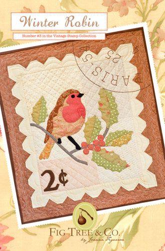 Winter Robin Postage Stamp Quilt