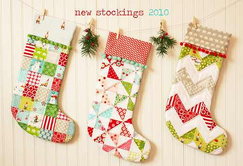 Scrappy Stockings for the Mantel - Quilting Digest