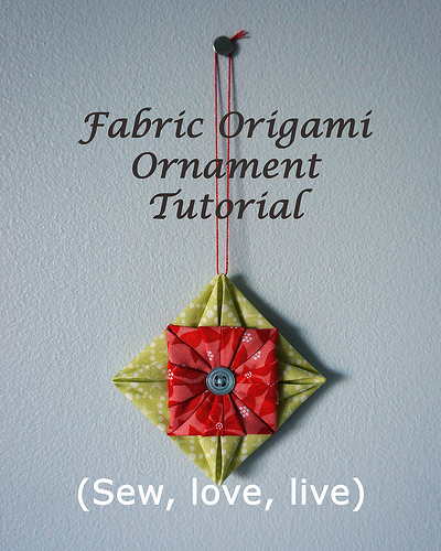 Fabric Origami Ornament