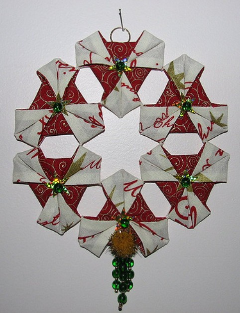 Origami Ornament Wreath