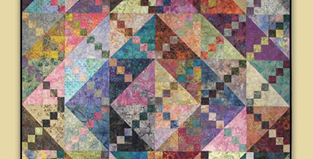 This Bermuda Sunrise Quilt is a Stunning Use of Scraps - Quilting Digest