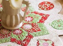 Festive Medallion Table Quilt