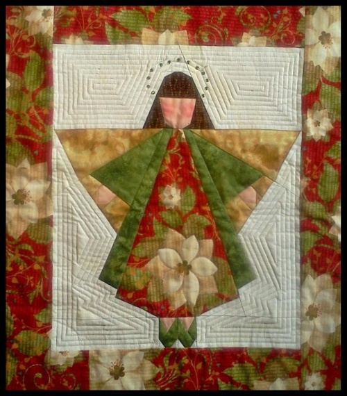 Christmas Angel Quited Wall Hanging