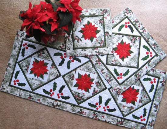 Poinsettia Table Toppers