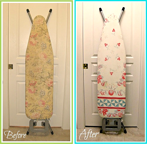 Ironing Board Cover from a Vintage Tablecloth