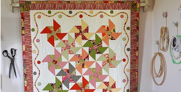 Playful Merry-Go-Round Quilt for a Wall or Table - Quilting Digest : merry go round quilt - Adamdwight.com