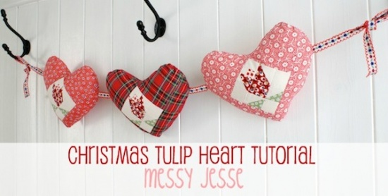 Tulip Heart Garland Tutorial